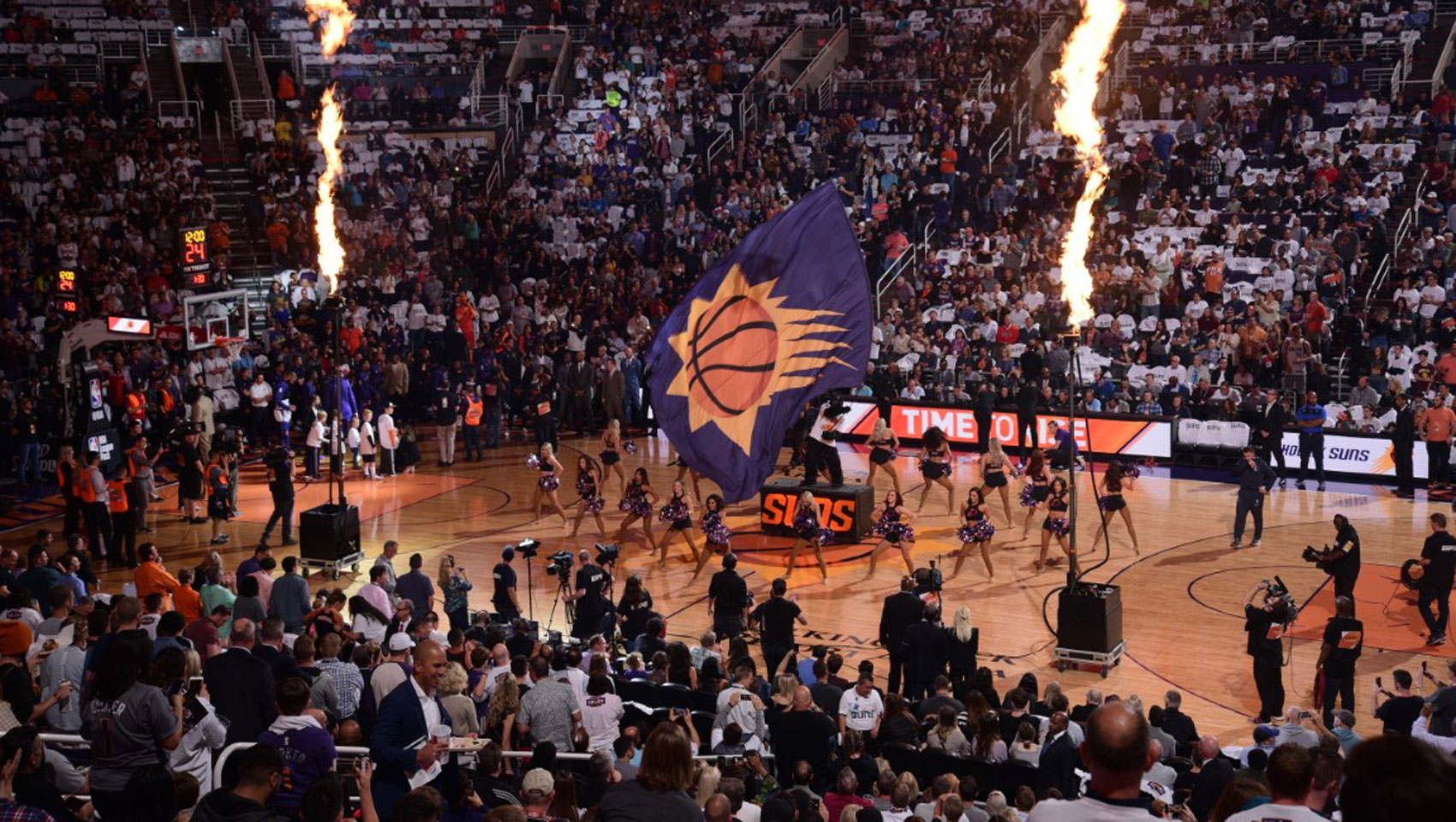 Phoenix Suns home game during halftime show