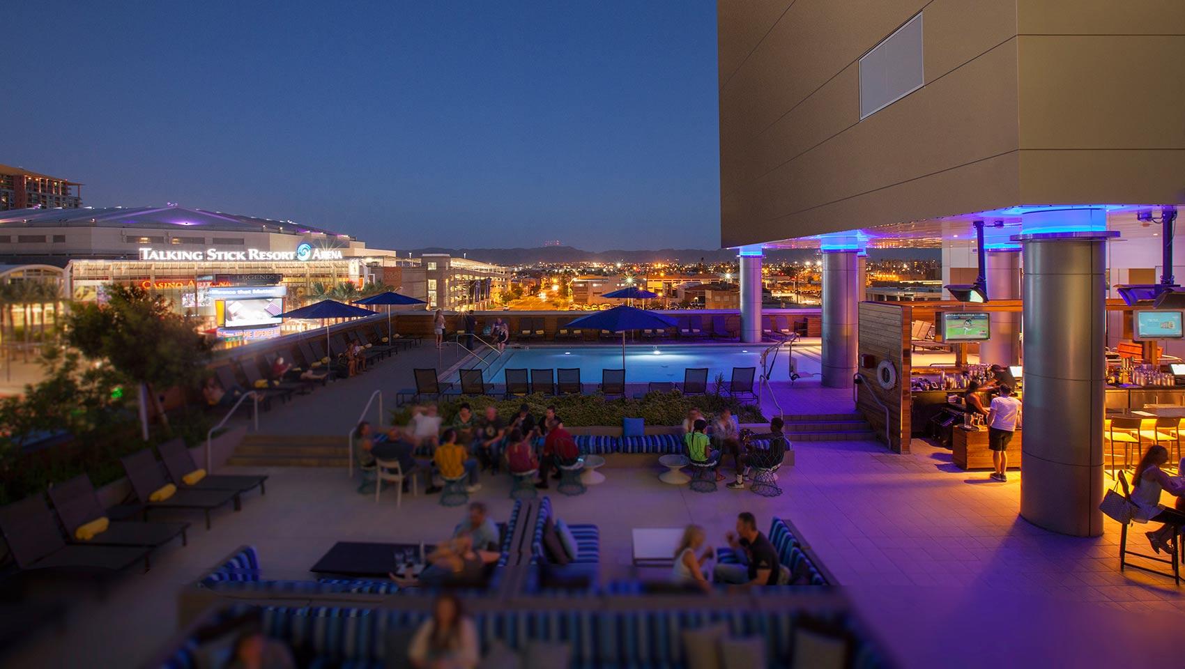 Downtown Phoenix Bars Kimpton Palomar Phoenix Cityscape